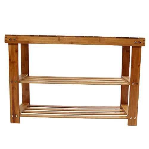 - Kimanli Shoe Rack Bamboo Stool Shoe Cabinet Shoe Rack Garden Foot Stool Storage Stool Simple Style