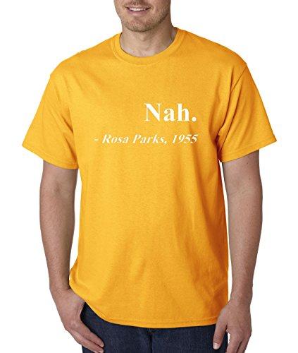allwitty 1091 - Unisex T-Shirt Nah. Rosa Parks 1955 2XL Gold