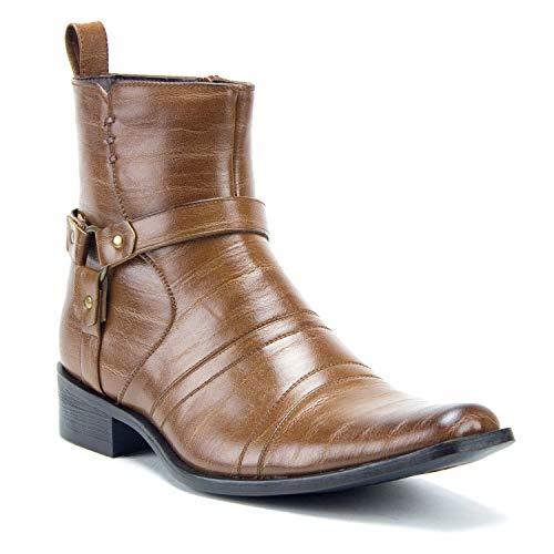 - Men's Colt Fashion Harness Zip Western Cowboy Riding Boots, Walnut, 11