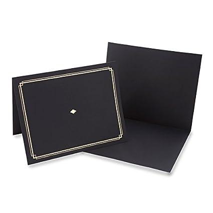 Amazon.com : Black Award Certificate Holder With Gold Foil ...