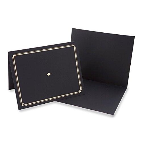 Black Award Certificate Holder With Gold Foil - 35003 ()