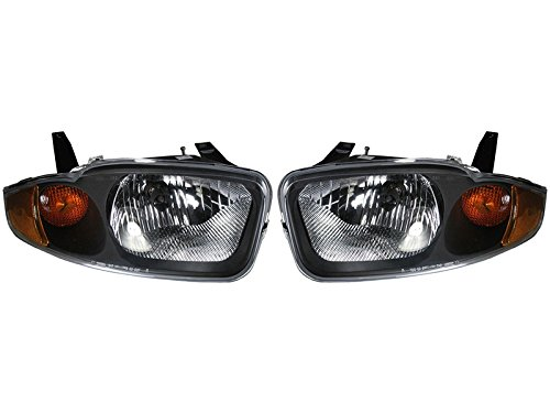 Headlights Headlamps Head Lights Lamps Pair Set ()