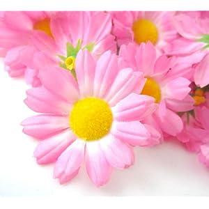 "(12) Silk Pink Gerbera Daisy Flower Heads , Gerber Daisies - 1.75"" - Artificial Flowers Heads Fabric Floral Supplies Wholesale Lot for Wedding Flowers Accessories Make Bridal Hair Clips Headbands Dress 71"