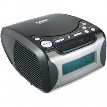 Naxa Digital Alarm Clock with Digital Tuning AM/FM Radio& CD