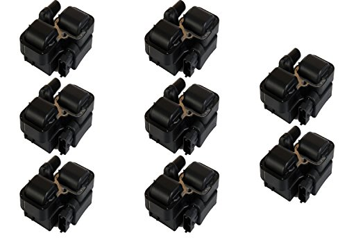 Pack of 8 Ignition Coils for Mercedes-benz C CL CLK ML SL SLK E AMG Class 4.3L 5.0L 5.5L V8 Compatible with 0001587803 0001587303 ()