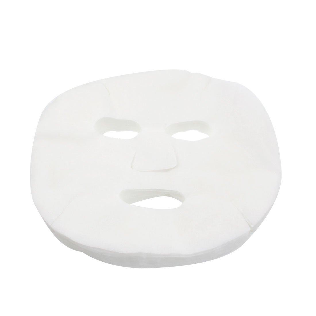 GBSTORE 100 Pcs DIY White Color Natural Spa Skin Care Skin Fiber Paper Pre-cut Facial Paper Sheet Facial Mask