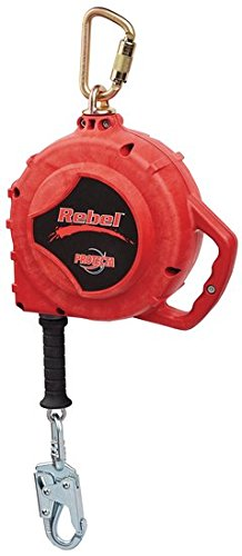 DBI/SALA 3590550 50' Red Rebel Self Retracting Lifeline with 5mm Galvanized Cable, Thermoplastic Housing and Carabineer