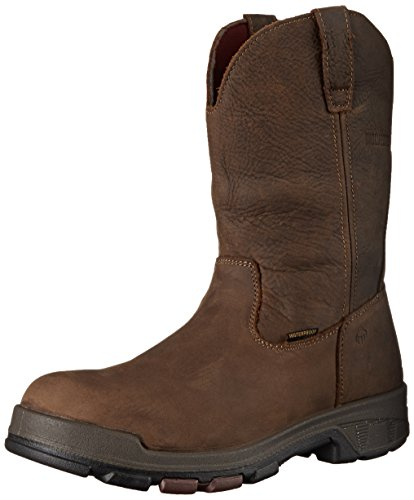 Wolverine Men's Cabor 10 Inch Soft Toe Boot,Dark Coffee,11.5 M (Waterproof Wellington Pull)