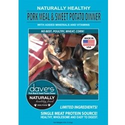 Dave'S Pet Food Naturally Healthy Pork Meal & Sweet Potato Dinner Dry Food For Adult Dogs, 30 Lb