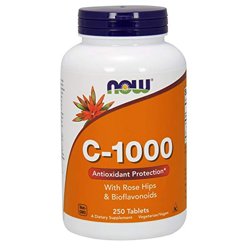 NOW Vitamin C-1000,250 Tablets - Tablet Vitamin C Vitamins