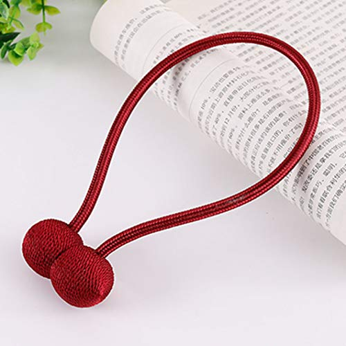 WEEFORT 1Pc Modern Minimalist Creative Polyester Magnetic Curtain Tieback Multi-Color Living Room Tied Rope Buckle Straps