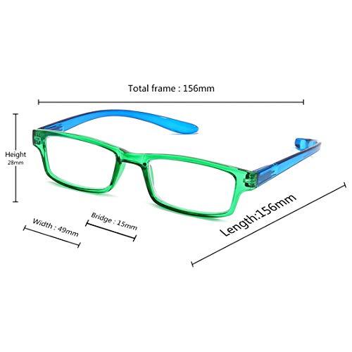 gafas Verde popular bisagra primavera sol naturales alta visión ligero moda lectura marco Mujeres Aiweijia gafas calidad unisex de de duraderas de completo de de ultra clara cómodo hombres HxpOwa