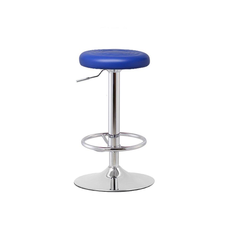 DALL カウンターチェア FL-61高い足 スツール バースツール フロントベンチ 朝食バー スツール 回転可能な L ドロップ 6080cm (色 : 青) B07DKS4N3Z 青 青