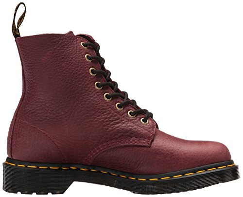 1460 Pascal Leather Grizzly Donna Cherry Stivali Martens Dr Red Zip W ZqCEEw