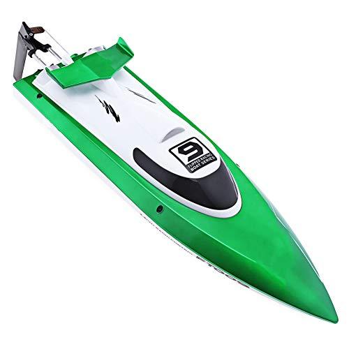 Teledirigido Inalámbrico Barcos RC con Sistema De Refrigeración por Agua FT009 2.4G 4 Canales 4CH Lancha Rápida,Orange