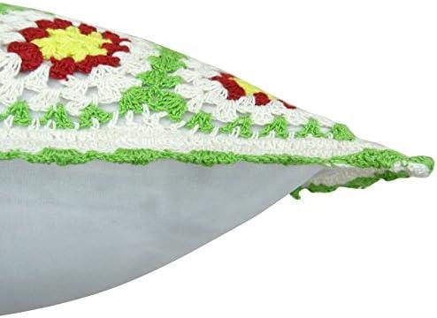 Algodón Cojín cuadrado manta decorativa de flores de ...