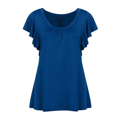 Blu Multicolore Damen Donna Shirt155 SANFASHION Bekleidung Ballerine SANFASHION Multicolore n81qZxn