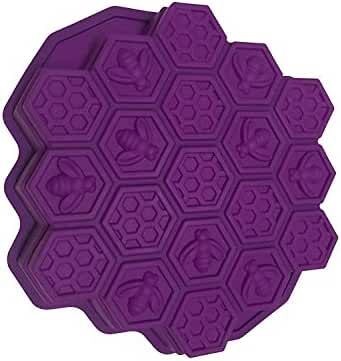 Agile-shop Bee Honeycomb Cake Mold Mould Soap Mold Silicone Flexible Chocolate Mold