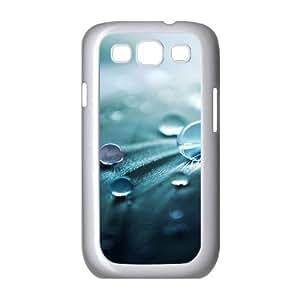 Samsung Galaxy S3 Case,Water Drops Hard Shell Back Case for White Samsung Galaxy S3 Okaycosama415428