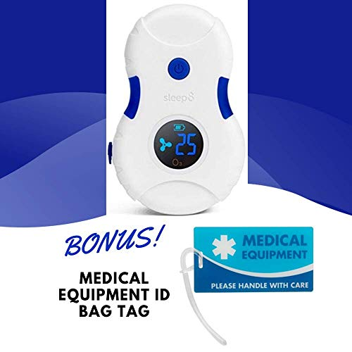 Latest Portable Oxygen Machine Sleep8 Cleaner and Sanitizer Machine with Bag + ID Bag Tag | Luggage Tag Bonus | Sleep 8 Kit 2019