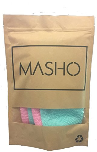 EXFOLIATING Bath Cloth for Body, Pink & Blue by Masho int