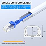 Cord Hider, 142in Mini Wire Cable Cover, PVC Cable