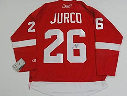 d90117d2163 Image Unavailable. Image not available for. Color: Tomas Jurco Signed Jersey  - Reebok ...