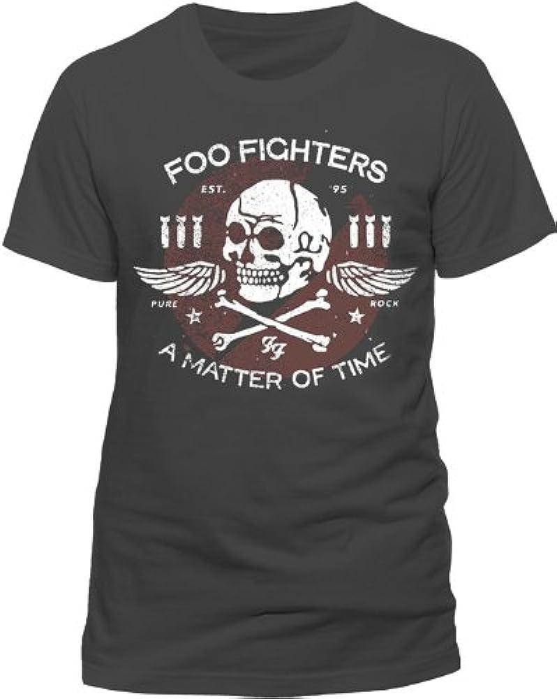 367122dfcb5c Foo Fighters Men's Matter of Time Short Sleeve T-Shirt, Grey (Charcoal)