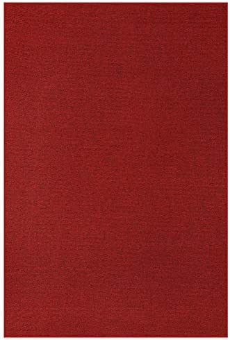 Indoor Outdoor Carpet with Heavy Duty Non Slip Backing Area Rugs Burgundy – 9 x12