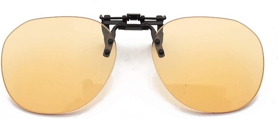 Gafas protectoras Lentes de la luz anti-cielo clip de gafas for la lectura de la miopía de los vidrios Asistente protector contra la radiación Protecciones para los ojos (Color : Round)