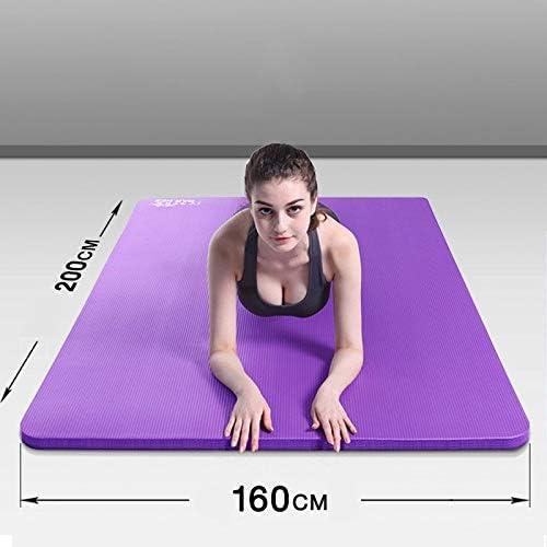 Yoga mat ヨガマット 15 mm厚パッド、200センチと160センチ幅。高性能グリップ、ヨガでのサポートと安定のため超高密度パッド、ピラティス、ジム、任意の一般的なフィットネス。 workout