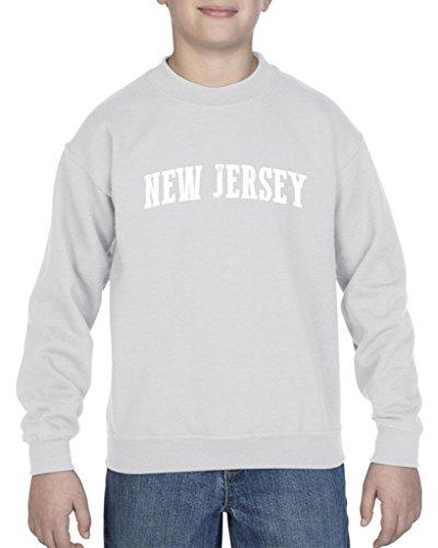Ugo NJ New Jersey Flag Newark Map Tigers Home of Princeton University Unisex Youth Kids Crewneck Sweater - New Jersey Village Kids
