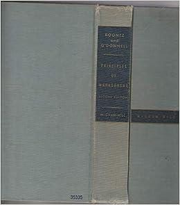Principles Of Management Book By Harold Koontz