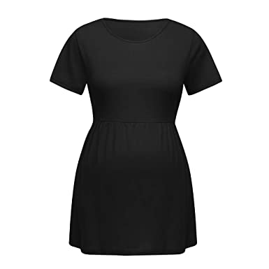 SULEAR New Maternity Wear Ropa De Maternidad Women Pregnancy Short Sleeve Tops Nusring Baby Maternity Clothes