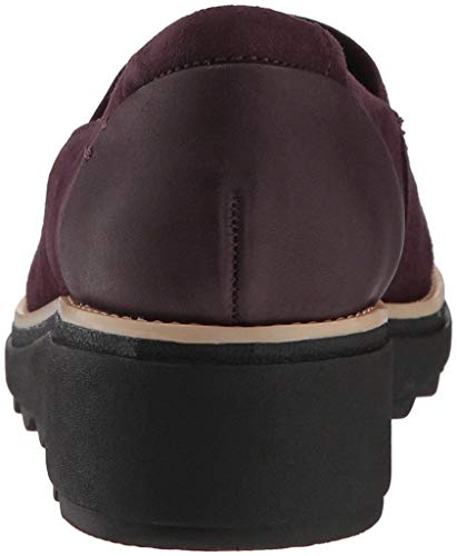 Dolly Scamosciata Sharon In Mocassino Pelle Aubergine Da Clarks Donna 6aRwqWT