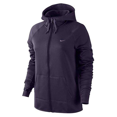 Nike Dames Therma All Time Full-zip Hoodie Purple Dynasty / Gebleekt Lila / Plum Mist