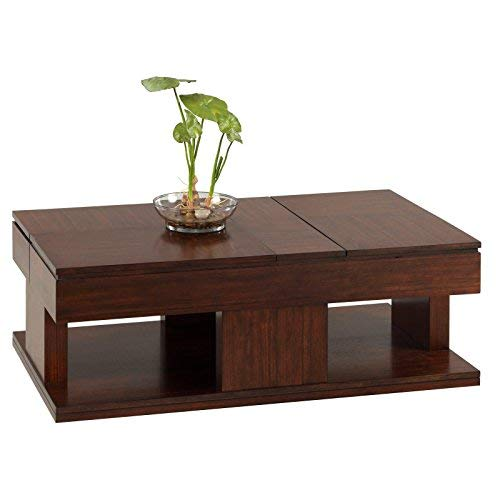 Progressive Furniture Le Mans Cocktail Table (Storage Table Mahogany Coffee With)
