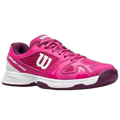 WILSON Junior Rush Pro 2.5 (Size 2 M) Very Berry/Purple/White Girls Tennis Shoe