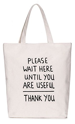 LINJUN Women's Canvas Shoulder Hand Bag Tote Bag(Youth storm series) (thank) (Bag Shoulder Storm)