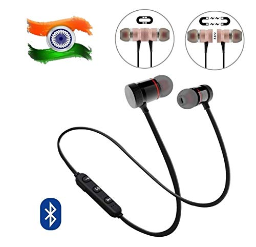 BLAXSTOC Magnetic Earphone Headphone for Calling & Music with mic for All Android & Smartphones