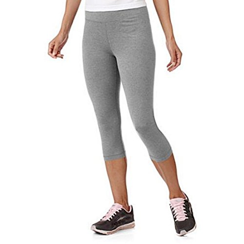 Danskin Racerback Tank (Danskin Now Women's Active Core Dri-more Capri Leggings (XL, Grey Heather))