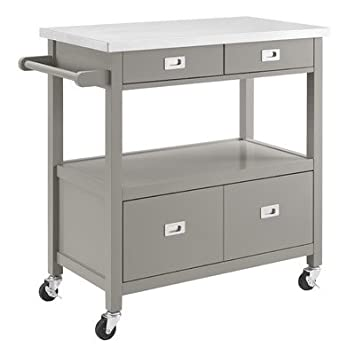 Charmant Aubuchon Kitchen Island With Stainless Steel Top