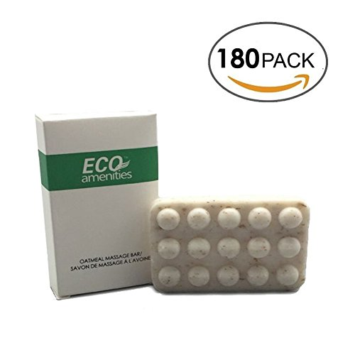 ECO-Amenities-Spa-Paper-Box-Individually-Wrapped-15-ounce-Oatmeal-Massage-Soap-180-Bars-per-Case