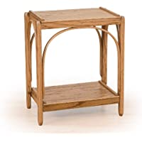 Rustic 2-Tier End Table- All Oak - Amish Made