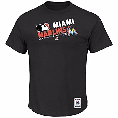 MLB Men's Big and Tall Authentic Collection Team Choice T-Shirt (4XT, Miami Marlins)