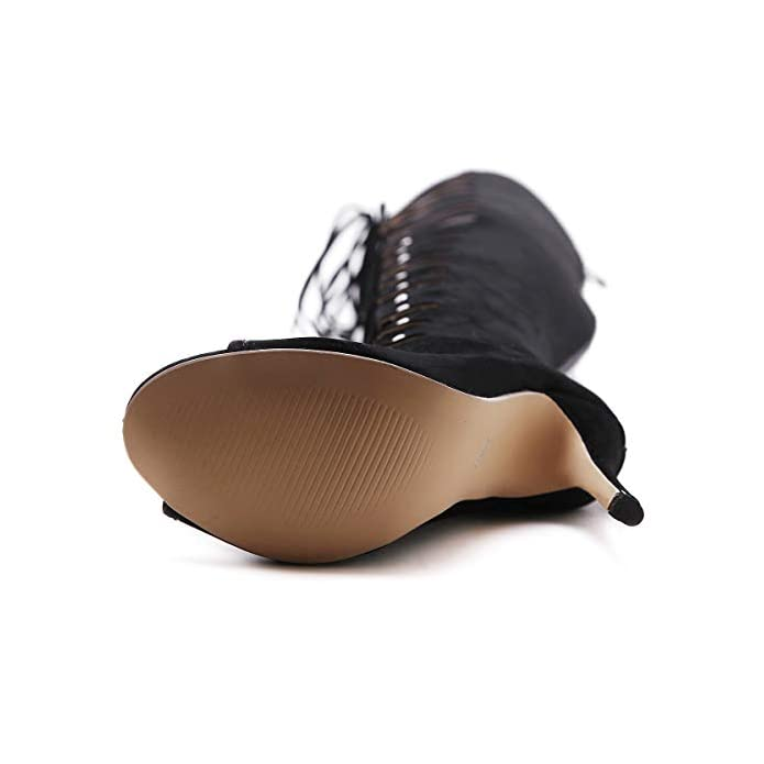 Ginocchio E Scrub Nuovo Fine Europeo Del 2019 black 36 Donna Tacco Da Signore Alto Fashion Elegante Stile Gli Stivali Sopra Americano Con Sandali He-yanjing