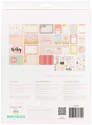 American Crafts 380804 Project Life Value Kit 81/Pkg-Little You Girls