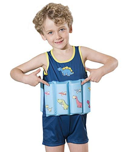 Megartico Kid's Onepiece Swim Vest Buoyancy Swimwear Float Suit Removable Buoyancy Sticks Boys Girls - Toddler Learn to Swim