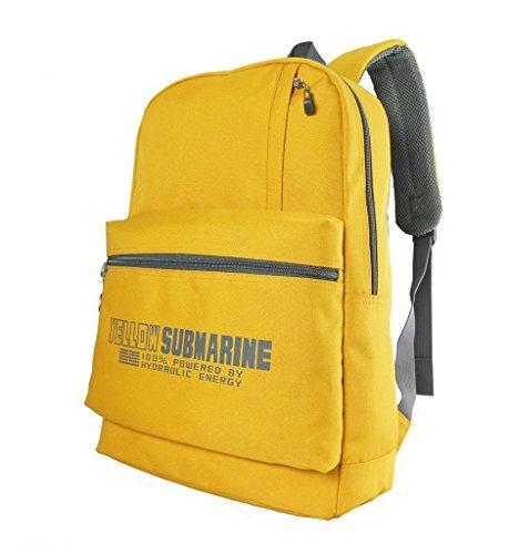 Yellow Submarine Ocean Revival Fashion Rucksack Backpack Daypack (Yellow)