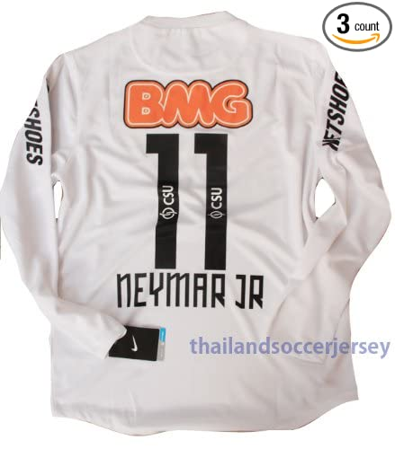 685b8a63f Amazon.com   New 12-13 Ls Long Sleeve Santos Home Football Shirt Neymar  11  Soccer Jersey (US XL)   Sports   Outdoors